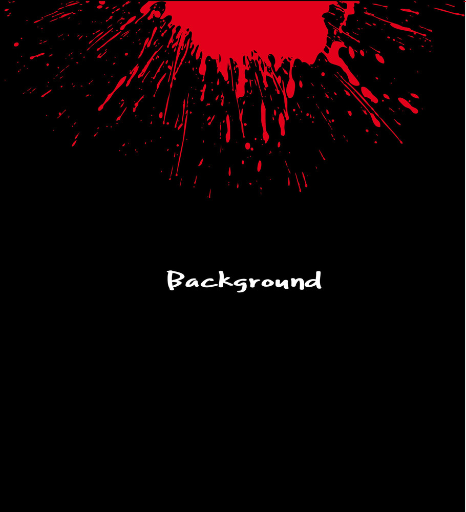 Red Blood Stain On Black Vector Background