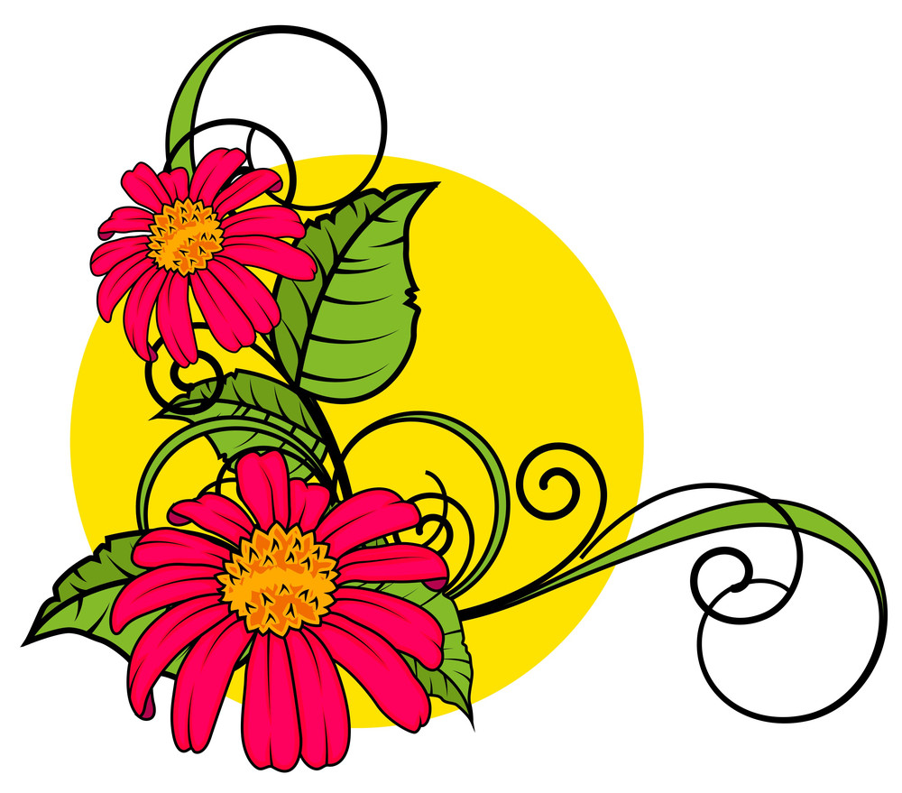 Red Blossoms Flourish Corner