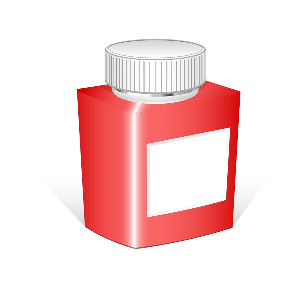 Red Bottle Vector