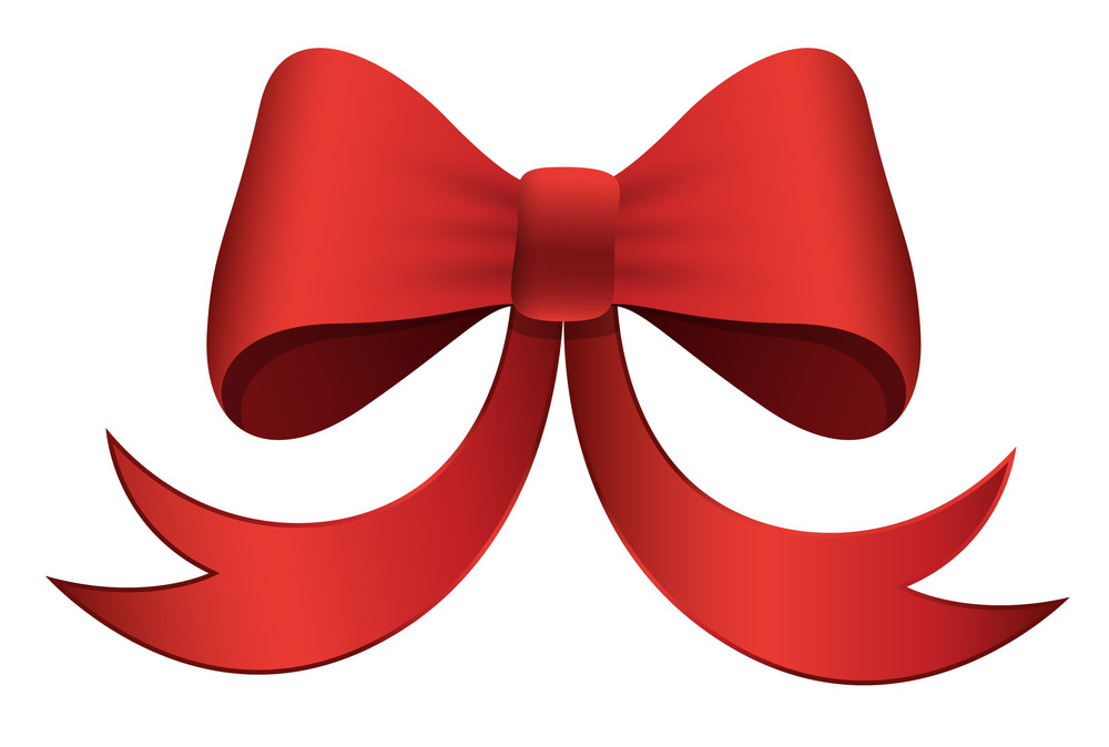 Red Bow - Christmas Vector Illustration