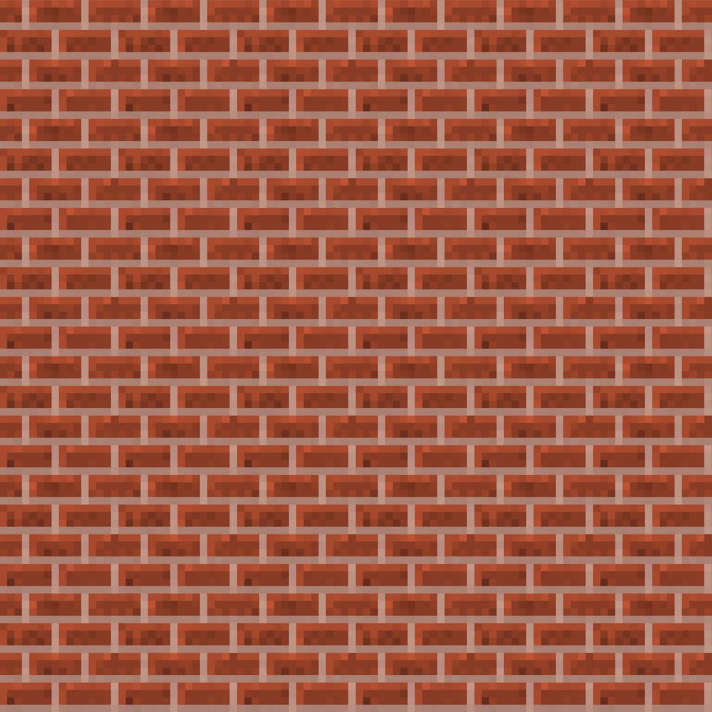 Red Brick Minecraft Pattern