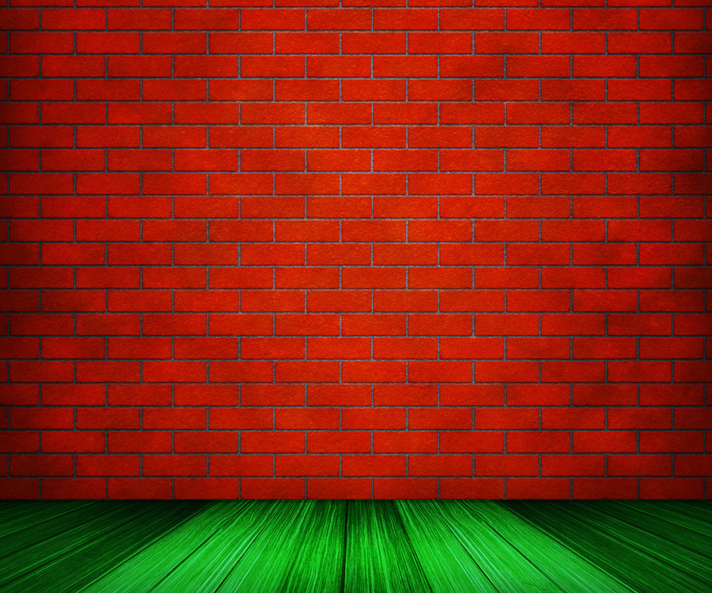 Red Brick Room Backdrop