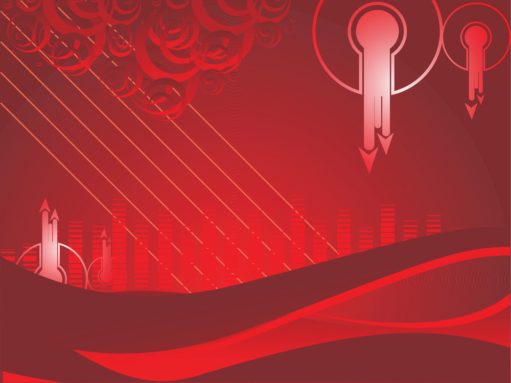 Red Business Background With Curve