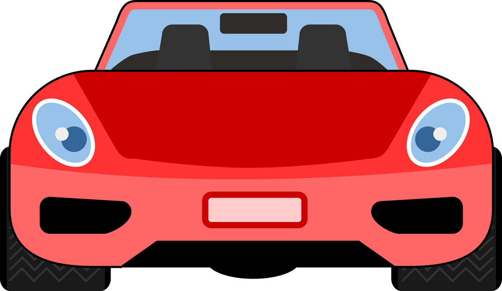 Red Car Front View