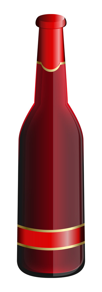 Red Champaign Bottle Design