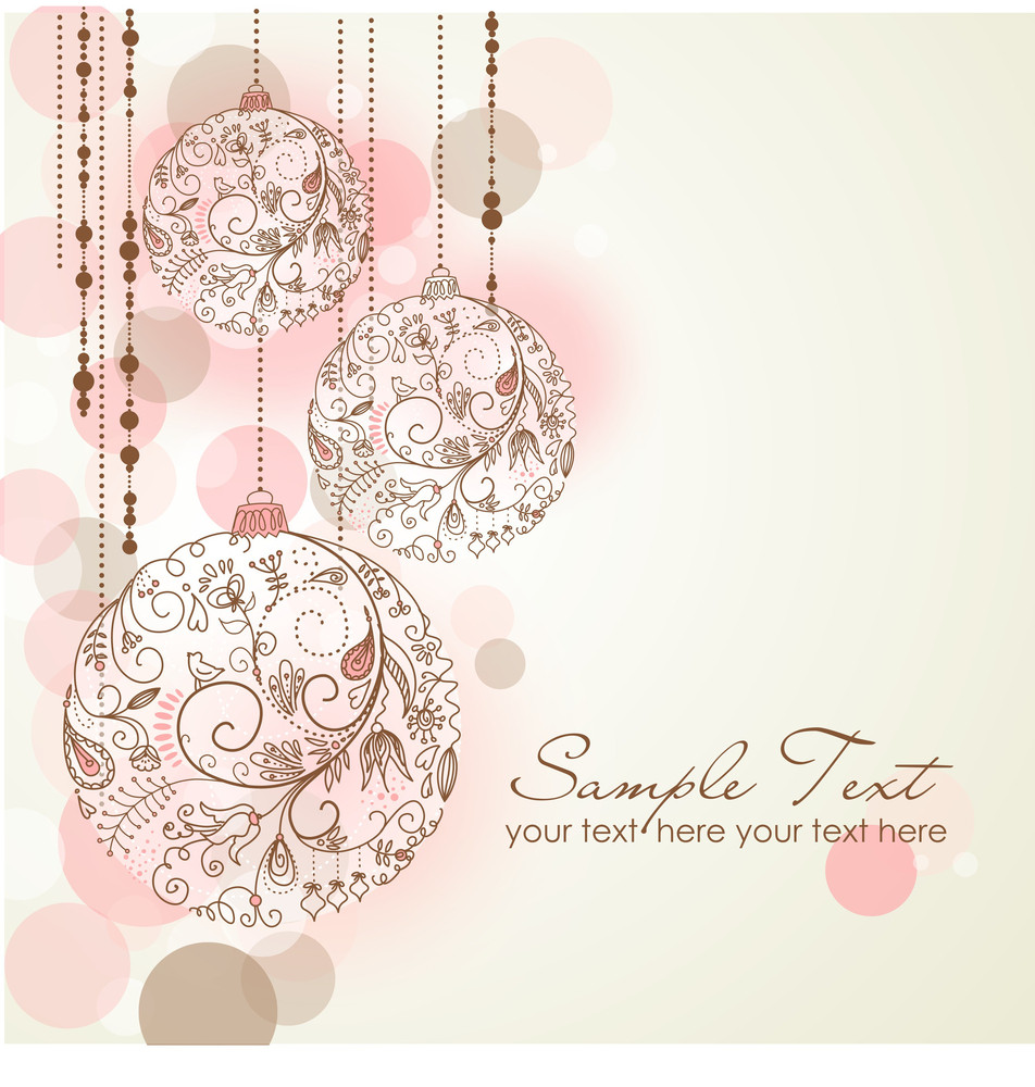 red christmas background with christmas ornaments royalty
