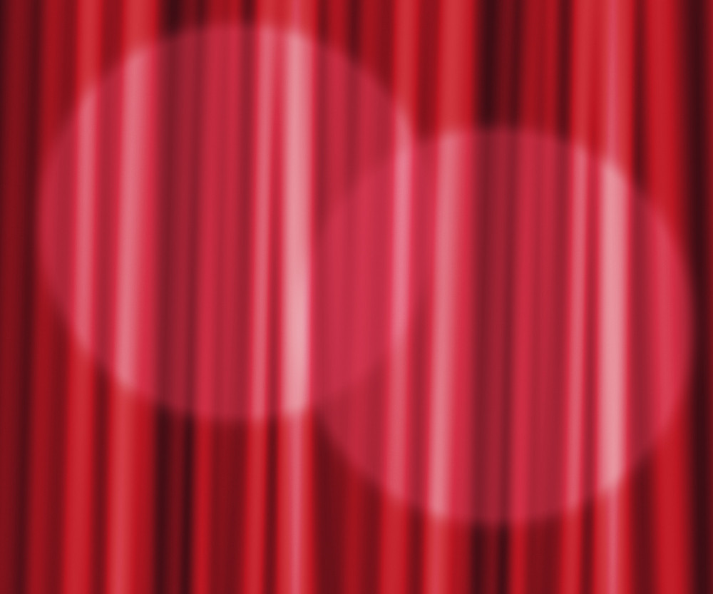 Red Curtain Photographic Backdrop