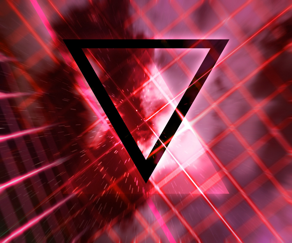 Red Daft Punk Abstract Background