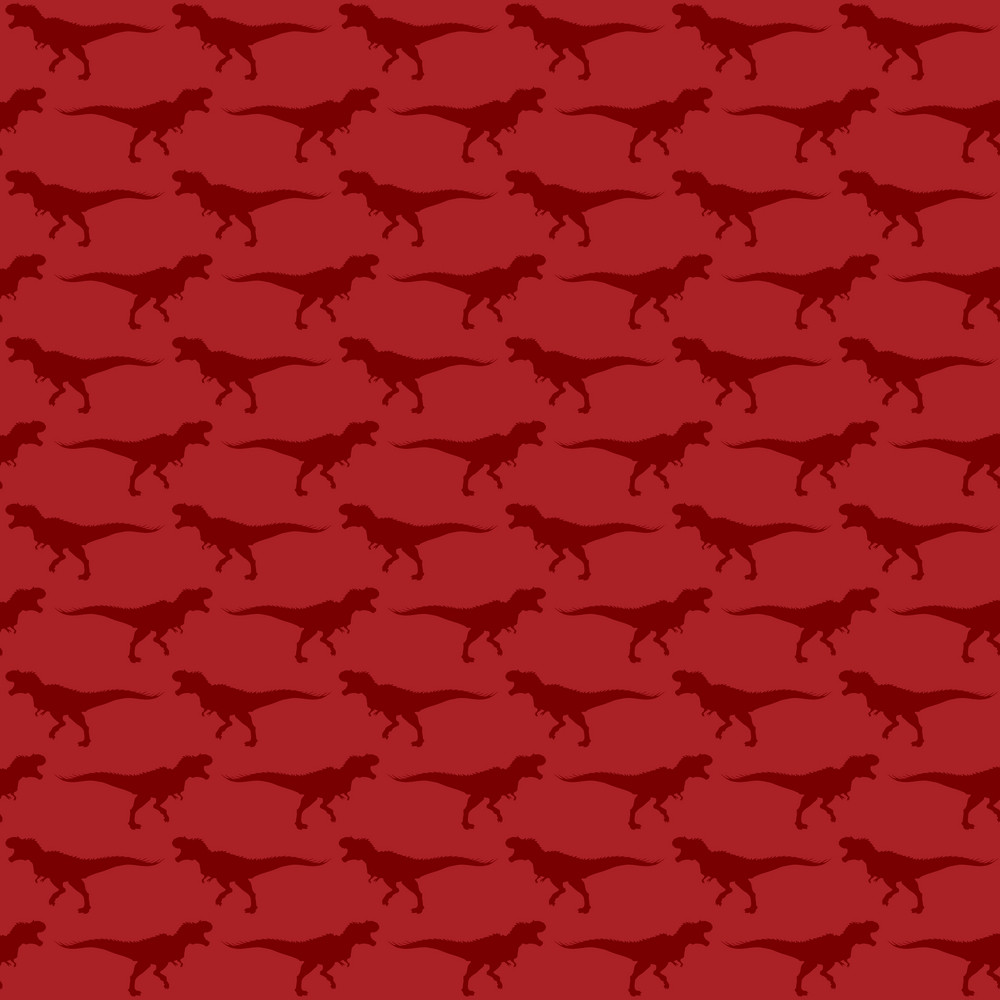 Red Dinosaur Pattern