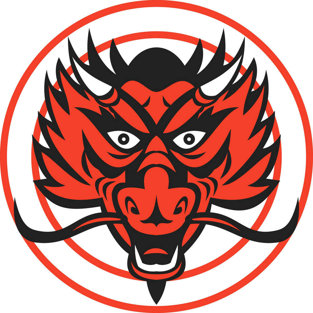 Red Dragon Head Circle