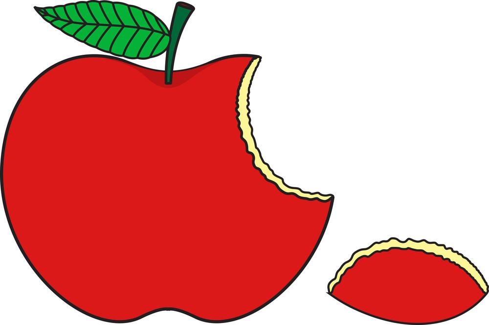 Red Eaten Apple