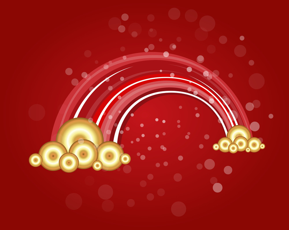 Red Fantasy Christmas Vector Illustration Background