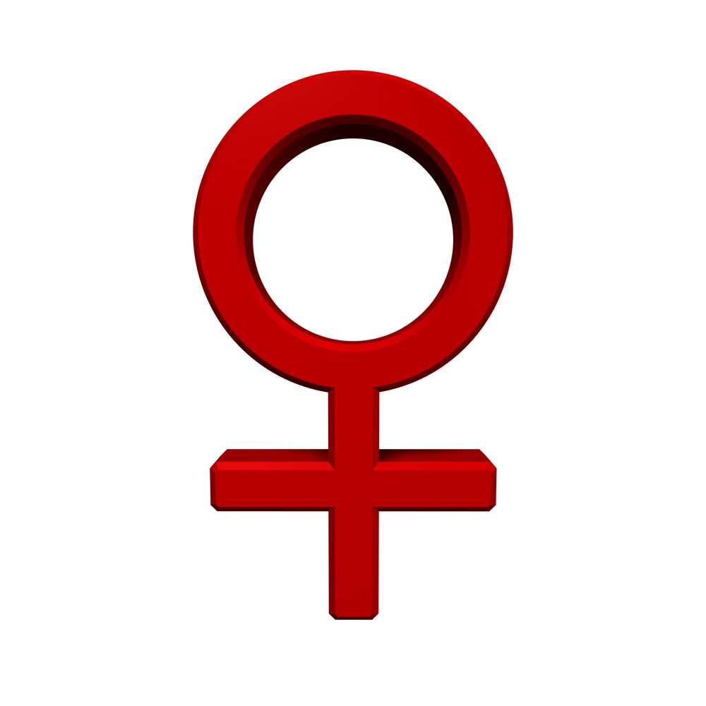 Red Female Sex Symbol.