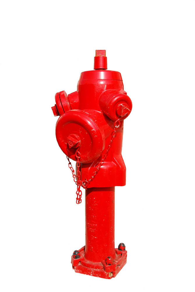 Red Fire Hydrant Isolated On A White Background