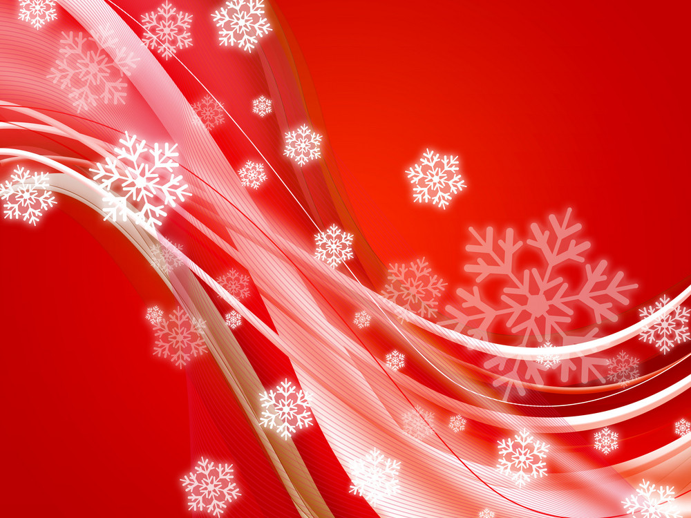 Red Flakes Background