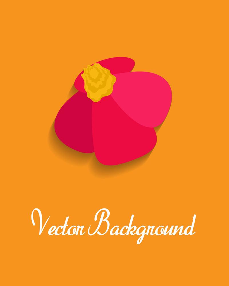 Red Flower Vector Banner