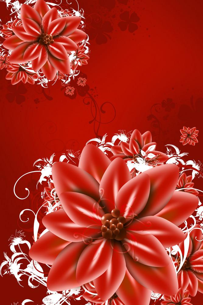 Red Flowers Illustration