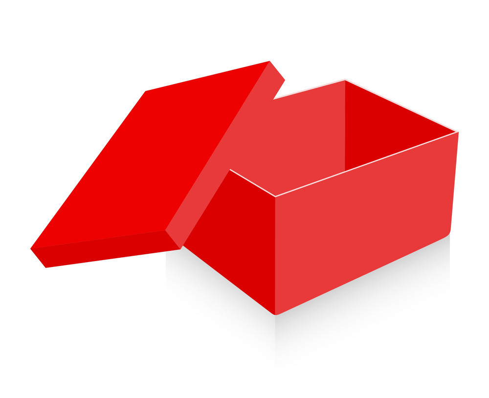 Red Gift Box Open Vector
