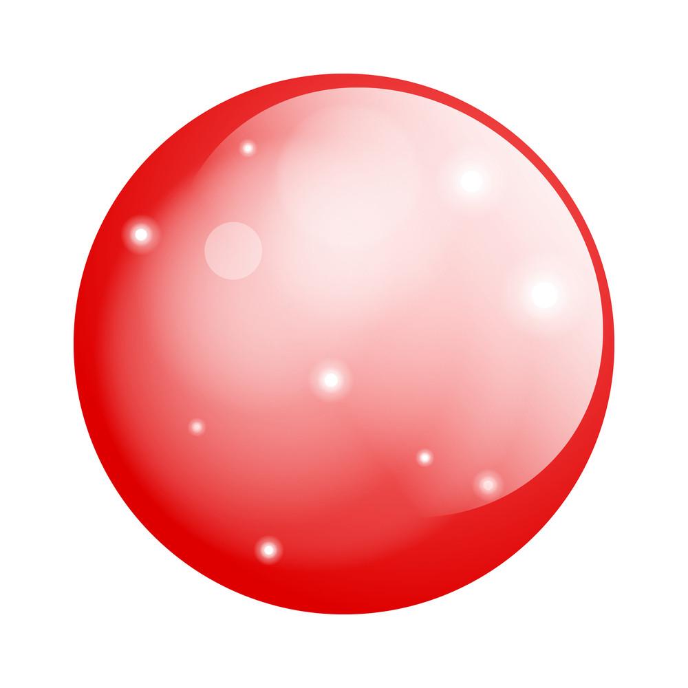 Red Glossy Circle Balloon