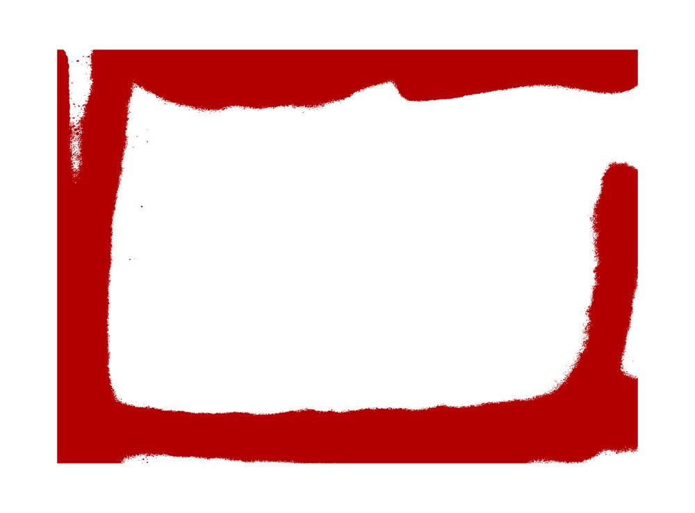 Red Grunge Frame