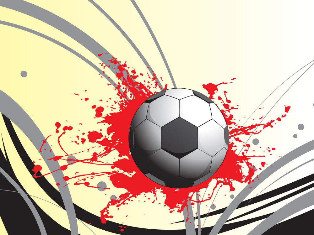 Red Grunge With Football