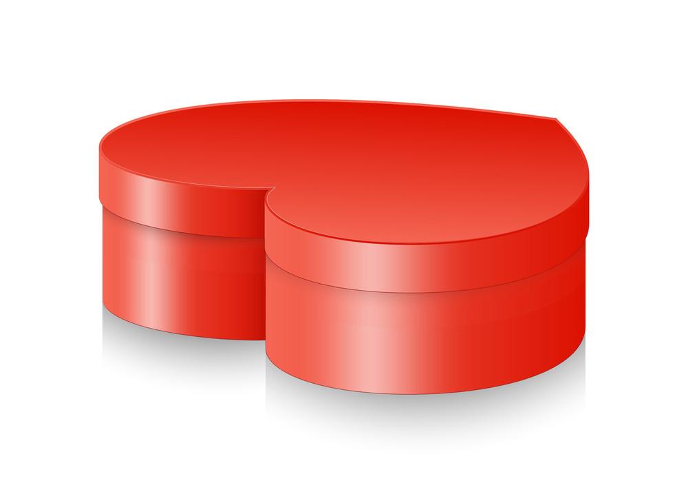Red Heart Box Vector Design