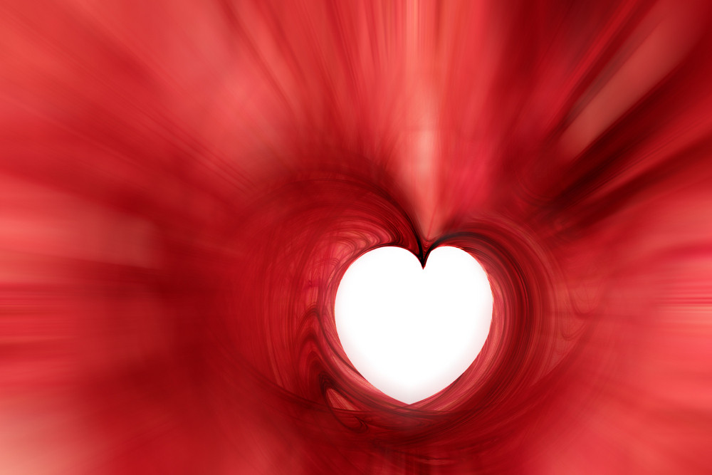 Red Heart Fractal Background