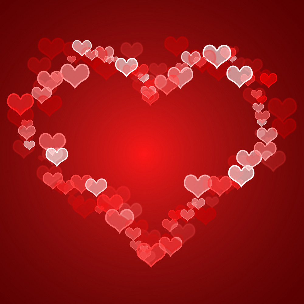 Red Hearts Background With Copy Space Showing Love Romance And Valentines