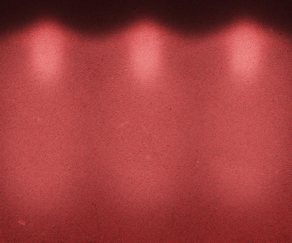 Red Illuminated Wall