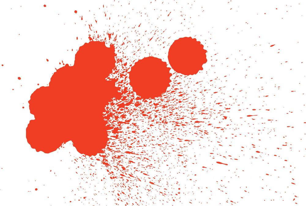 Red Ink Blobs - Splash