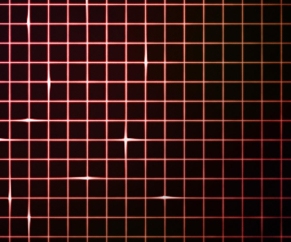 Red Laser Light Grid Background