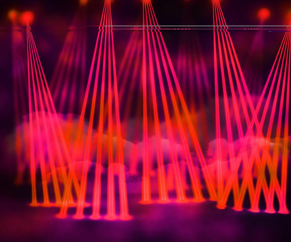 Red Laser Stage Background
