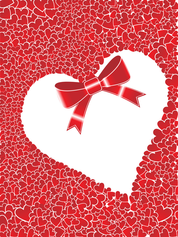 Red Macro Background With Heart