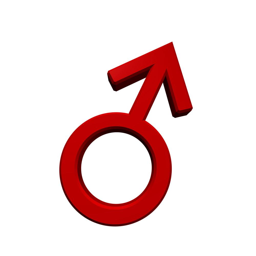 Red Male Sex Symbol.