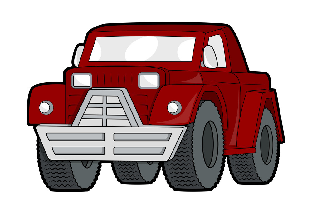 Red Modern Jeep Vector