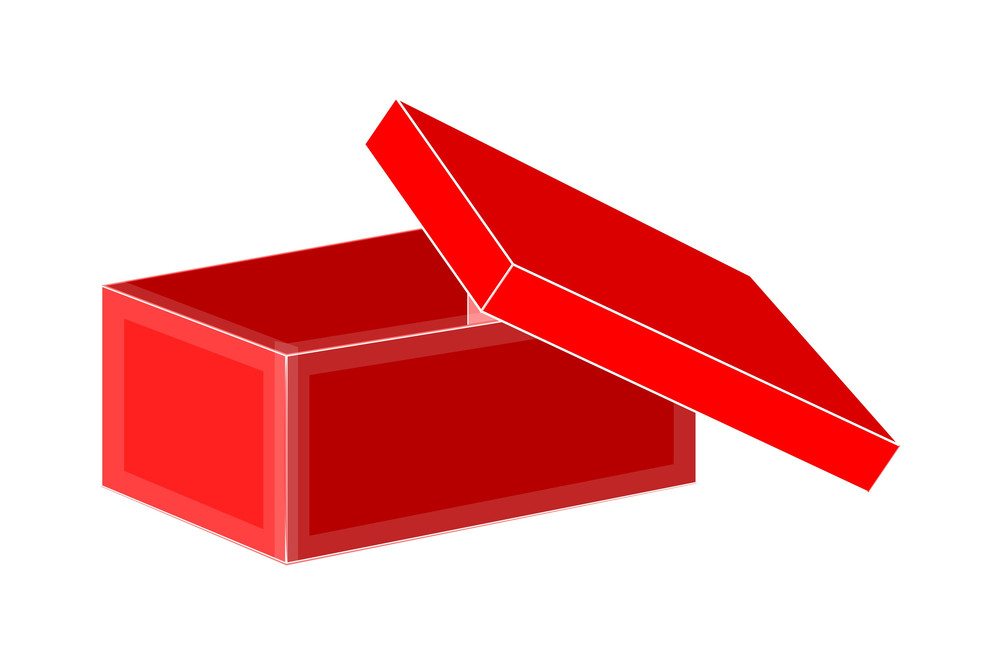 Red Open Box Vector