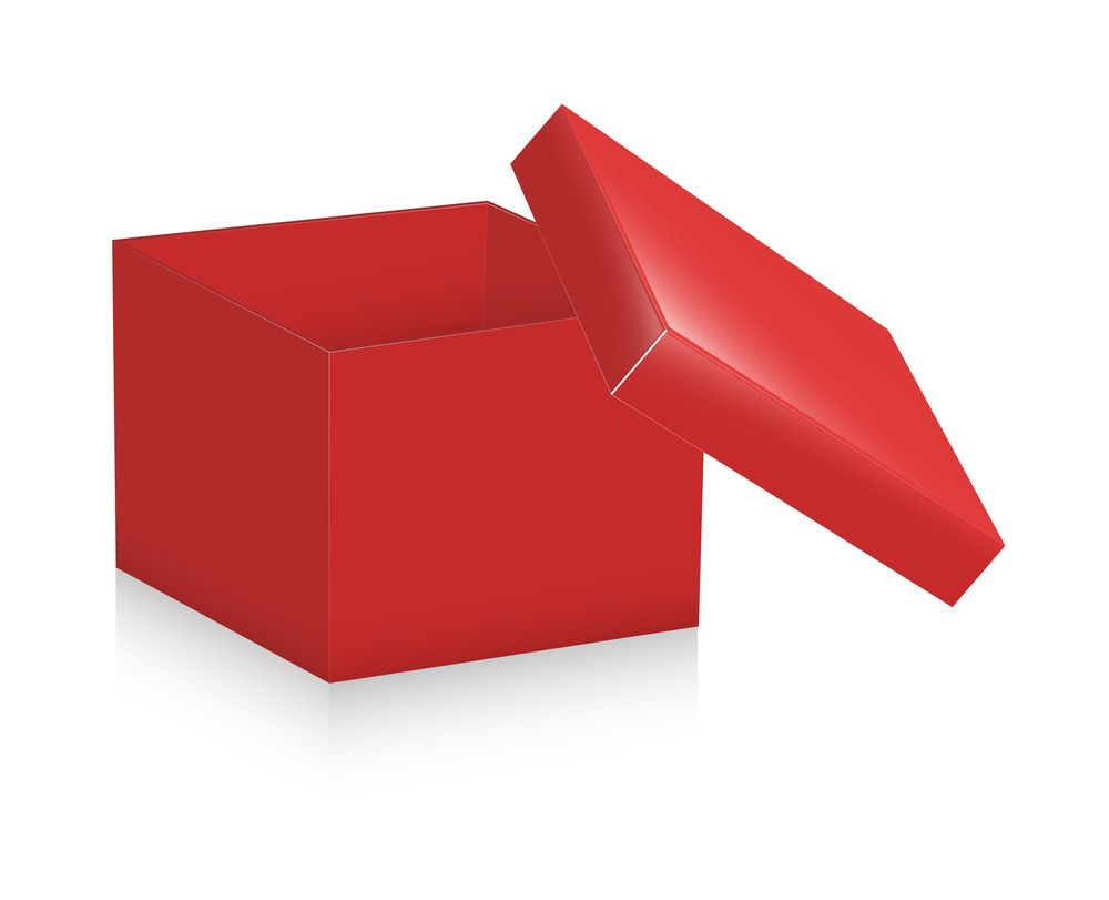 Red Open Box