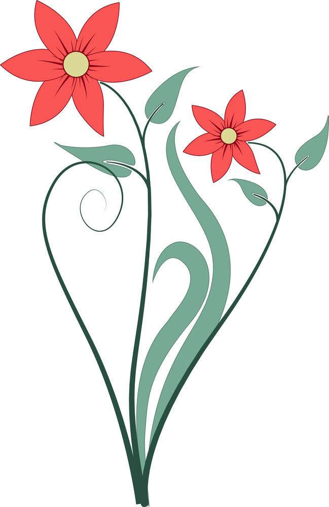 Red Organic Flowers