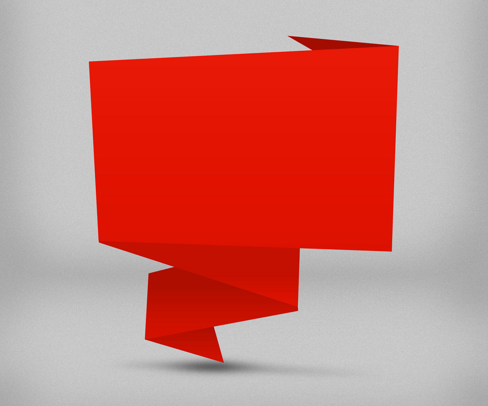 Red Origami Background