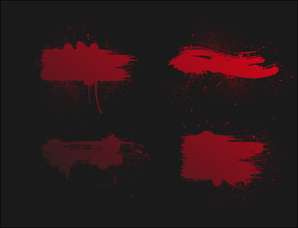 Red Paint Splashes