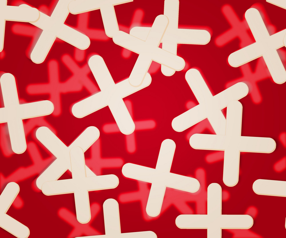 Red Plus Abstract Background