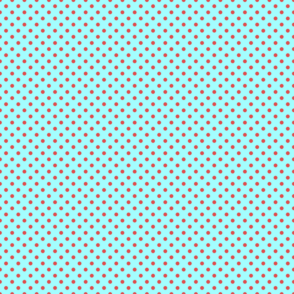 Red Polka Dots Pattern On A Turquoise Background