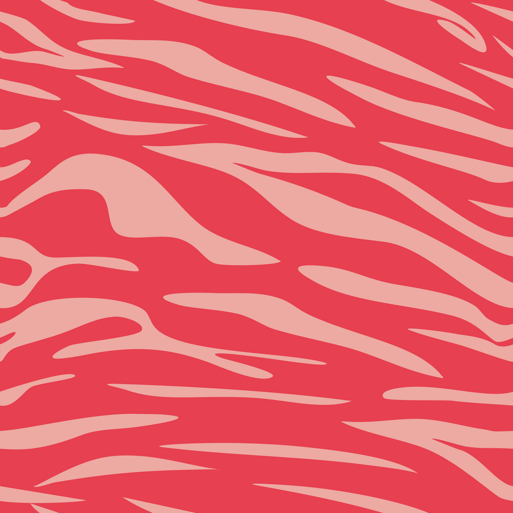 Red Retro Beach Animal Print Pattern