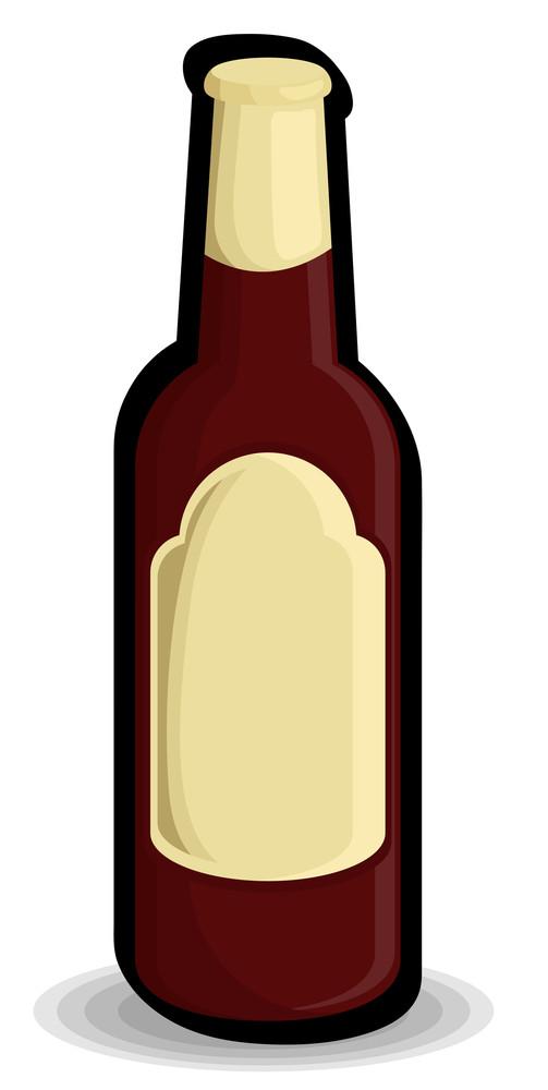 Red Retro Black Champaign Bottle