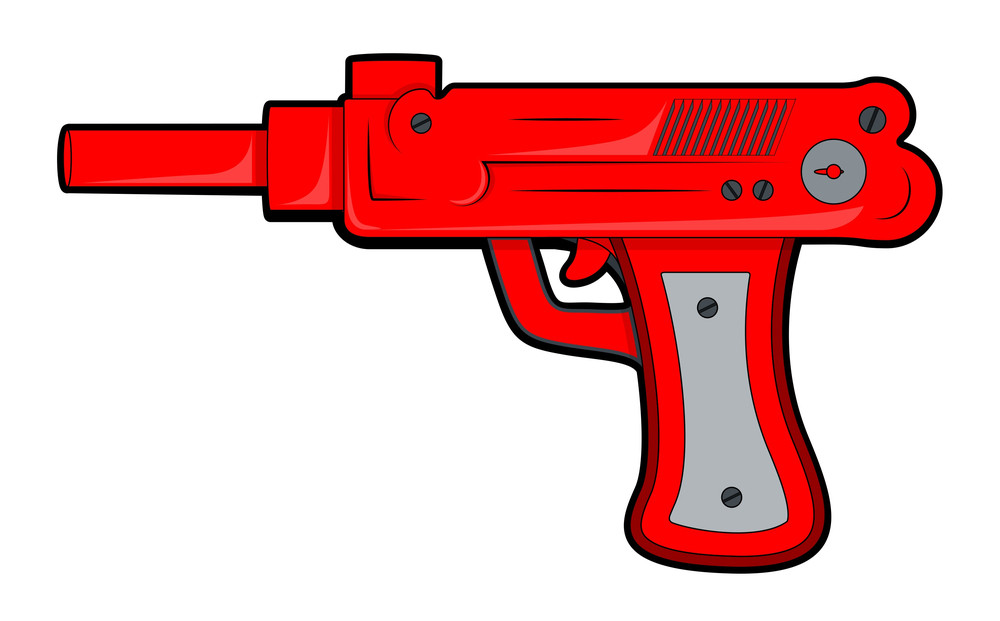 Red Retro Gun