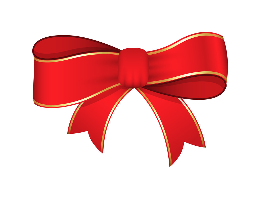 Red Ribbon Bow Vector Design