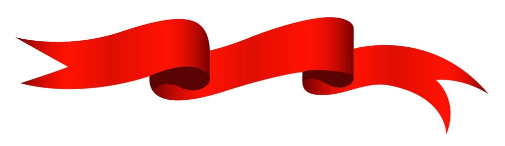 Red Ribbon - Christmas Vector Illustration