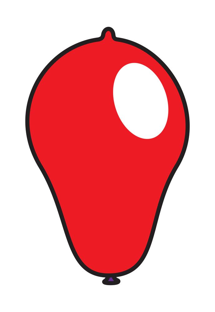 Red Shiny Balloon Vector