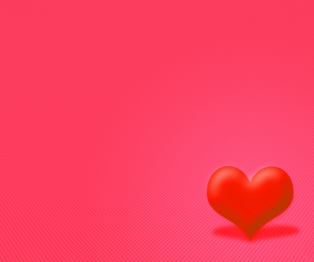 Red Simple Valentine Background