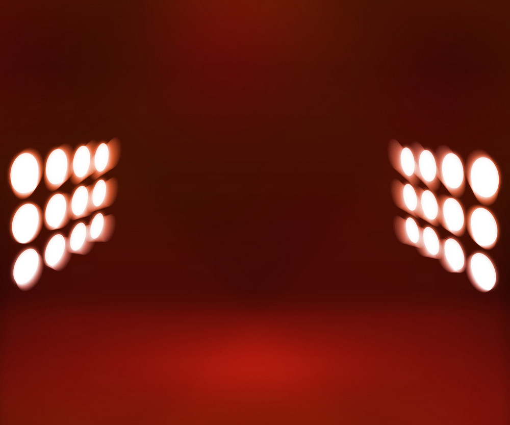 Red Spotlights Room Background